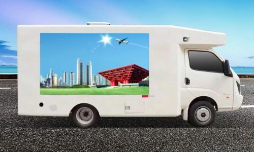 非动力LED广告车